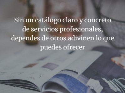 """""""Portfolio"""", tu catálogo de servicios como profesional"""