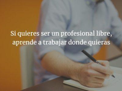Profesionales libres, trabajar sin oficina