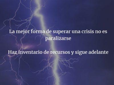Crisis, la parte de la Estrategia Personal que preferiríamos evitar