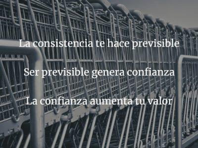 Consistencia, ser predecible aumenta tu valor
