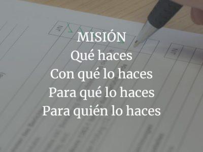 Misión. Lo que vas a hacer por los demás